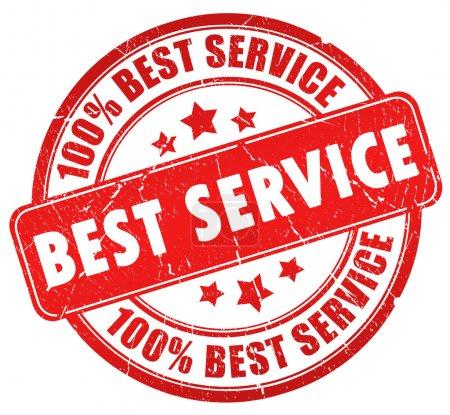 Photo pour Meilleur timbre de service isolé sur blanc - image libre de droit