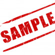 Sample stamp isolated on white...