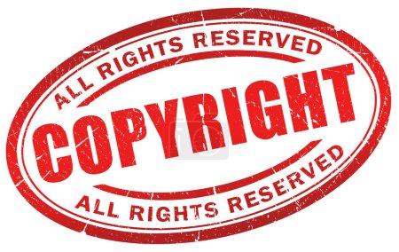 Photo pour Symbole de droit d'auteur grunge isolé sur blanc - image libre de droit