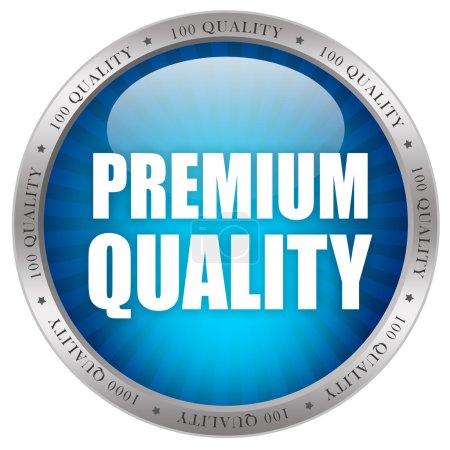 Photo pour Icône de qualité Premium isolé sur blanc - image libre de droit