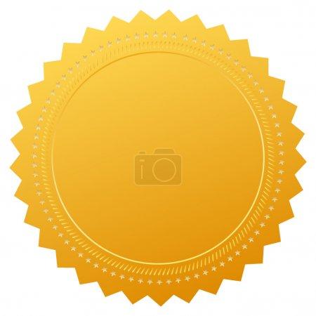 Illustration pour Certificat d'or blanc vectoriel sur blanc - image libre de droit