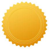 Vector blank gold certificate