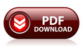 Vector pdf download button isolated on white