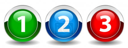 Illustration for Numbers buttons, vector illustration - Royalty Free Image
