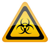 Biohazard warning sign vector illustration