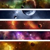 Prostoru galaxie nápis