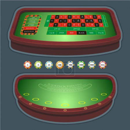 Roulette table blackjack