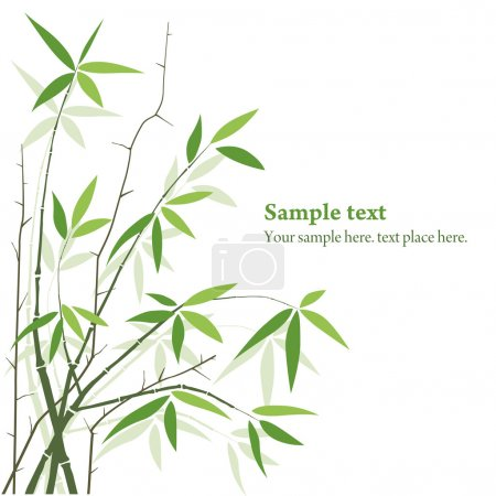 Illustration for Bamboo plants background with copy space. frame - Royalty Free Image