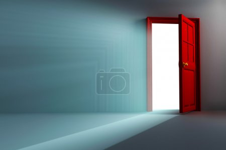 Photo for Illustration of 3d image of light coming out open door - Royalty Free Image