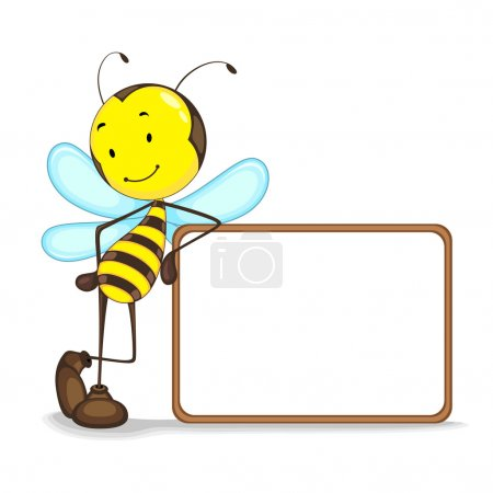 Bee with Blank Board