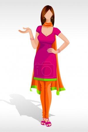 Lady in Salwar Suit