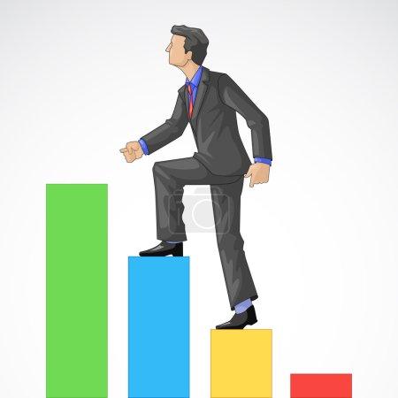 Executive Climbing Bar Graph