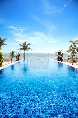 Photo for Luxury swimming pool a tropical resort - Royalty Free Image