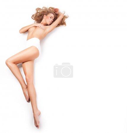 Photo pour Femme blonde - image libre de droit
