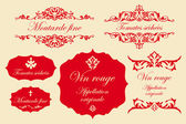 Vintage labels in french - fine mustard dried tomatoes red wine