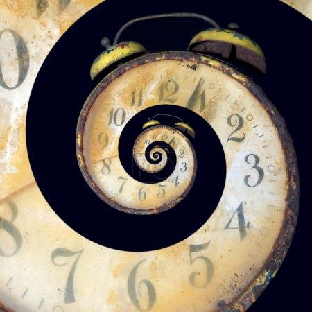 Infinite Old Rusty Clock