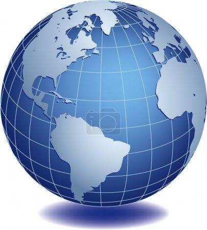 Vector illustration of world globe