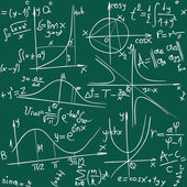 Vector illustration of seamless math and geometry background