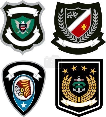 Illustration for Emblem badge design - Royalty Free Image