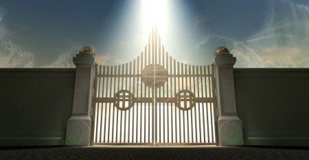 Heavens Golden Pearly Gates