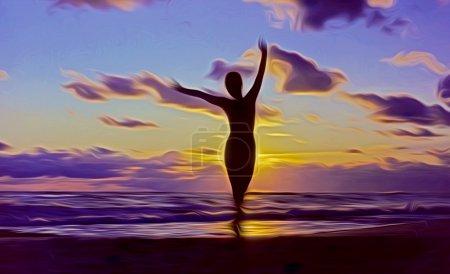 Photo pour La naissance mythologique de Vénus émergeant de l'écume de mer - image libre de droit
