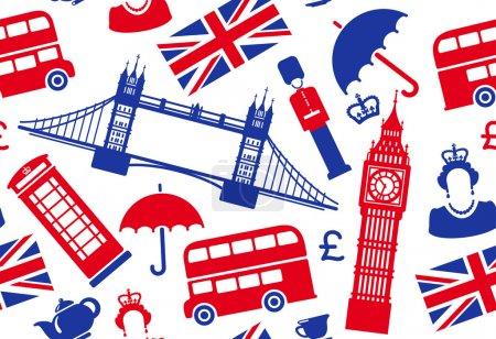 Photo pour Arrière-plan transparent sur un thème de l'Angleterre - image libre de droit