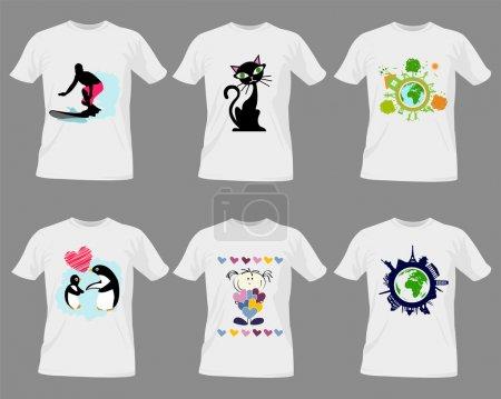 Illustration pour Modèles de T-shirt - image libre de droit