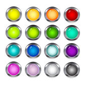 Colorful shiny buttons