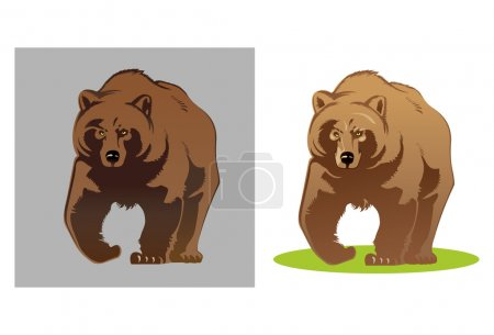 Illustration pour Illustration vectorielle d'un ours. Simple et pratique dans le travail - image libre de droit