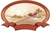 Vector illustration of agriculture the summer landscape Good choice for the logo or trademark No gradient mesh and other effects