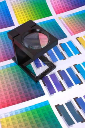 Magnifying Glass on Color Swatches Series