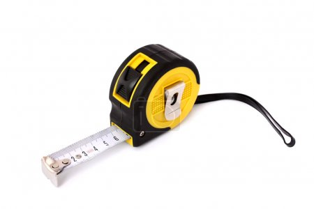 Measuring Tape isolated on white background. Vertical position.