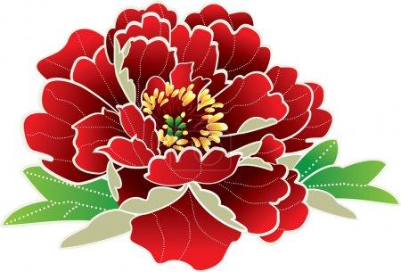 Illustration for Peony flower - Royalty Free Image