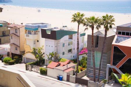 Pacific Coast in Santa Monica. Los Angeles