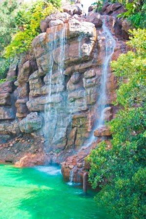 Waterfall in Zoo of Los Angeles