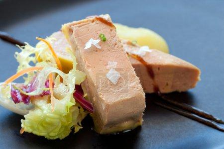 Foie micuit close up.
