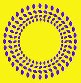 Optical illusion with circles made from dried fruits