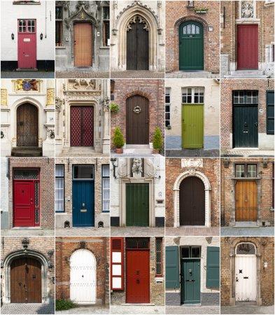 Doors from Bruges, Belgium.