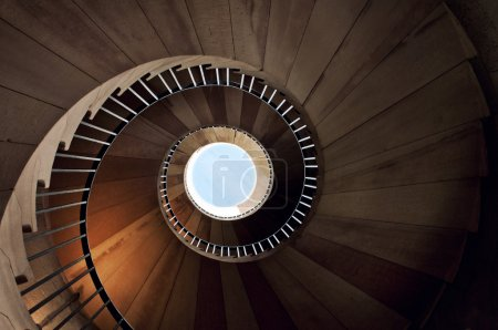 Photo for Old spiral stairway from above - Royalty Free Image