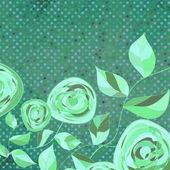 Vintage flower šablona, květinové pozadí