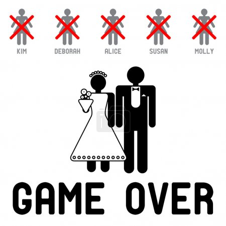 Illustration for Game Over - Royalty Free Image
