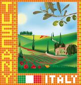 Tuscan mosaic 1
