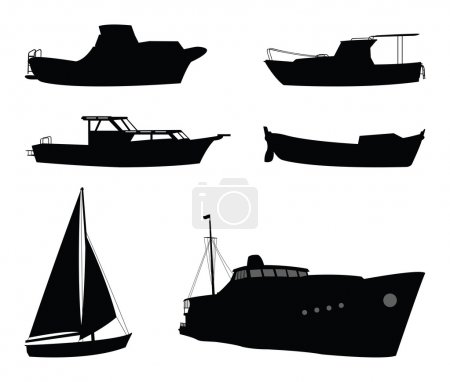 Boats and ship silhouettes