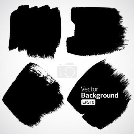 Illustration for Abstract grunge ink draw shapes vector - Royalty Free Image