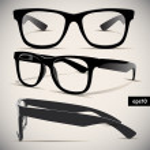 Glasses vector set. Retro. Background...