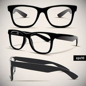 Glasses vector set Retro Background