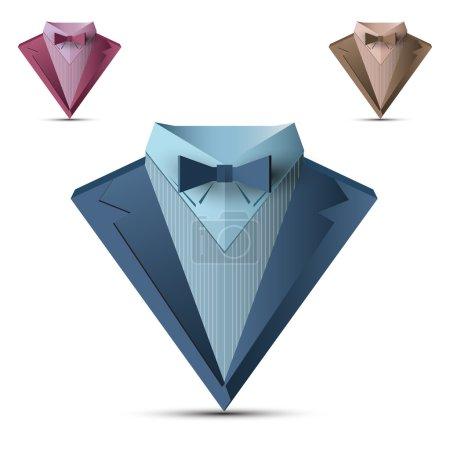 Vector business suit