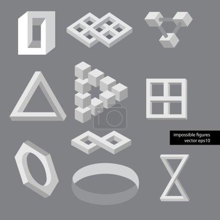 Photo pour Symboles d'illusion d'optique. Illustration vectorielle . - image libre de droit