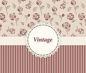 Vintage card design pro přání, pozvání, menu, kryt