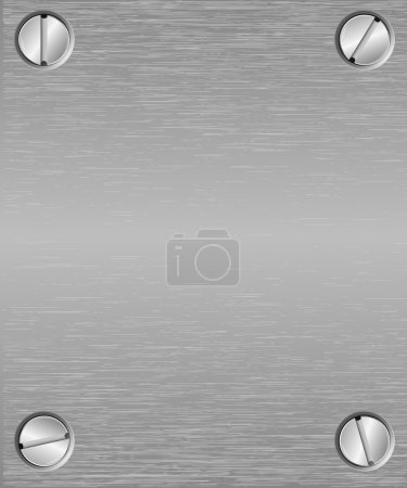 Illustration for Seamless metal texture background. Vector - Royalty Free Image